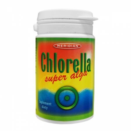 CHLORELLA super alga 200 tabletek MERIDIAN